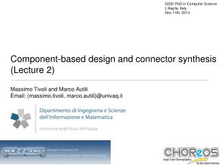 Component-based design and connector synthesis (Lecture 2)