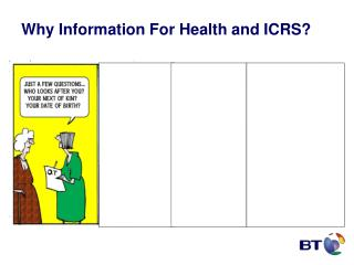 Why Information For Health and ICRS?