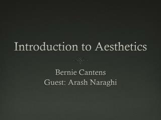 Introduction to Aesthetics