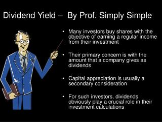 Dividend Yield –  By Prof. Simply Simple