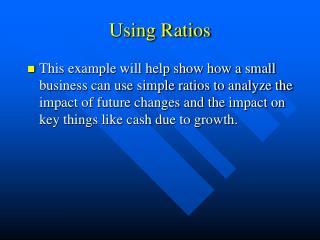 Using Ratios