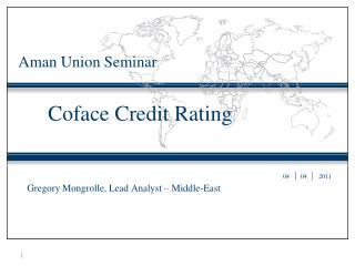 Coface Credit Rating