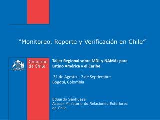 """""""Monitoreo, Reporte y Verificación en Chile"""""""