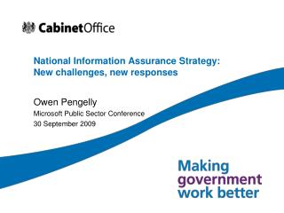 National Information Assurance Strategy: New challenges, new responses