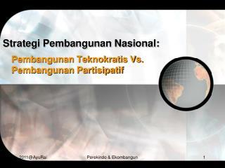 Strategi Pembangunan Nasional:
