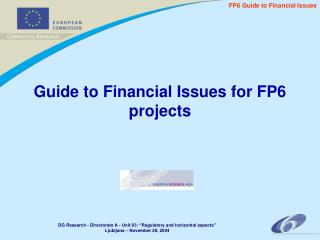 Guide to Financial Issues for FP6 projects