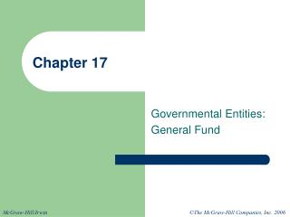 Governmental Entities: General Fund