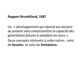 Rapport Brundtland, 1987