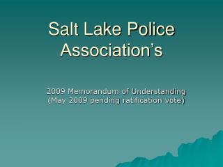 Salt Lake Police Association's