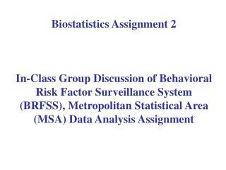 Biostatistics Assignment 2