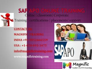 SAP APO ONLINE TRAINING IN CANADA