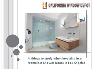 4 things to study when investing in a Frameless Shower Doors