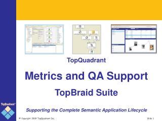 TopQuadrant Metrics and QA Support