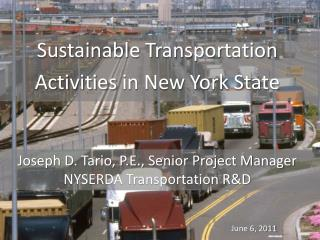 Sustainable Transportation  Activities  in New York State