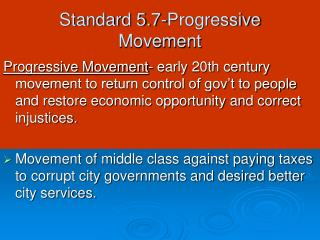 Standard 5.7-Progressive Movement