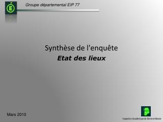 Groupe d�partemental EIP 77