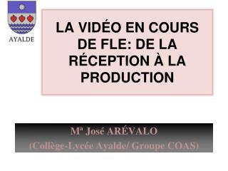 LA VIDÉO EN COURS DE FLE: DE LA R É C EPTION  À LA PRODUCTION