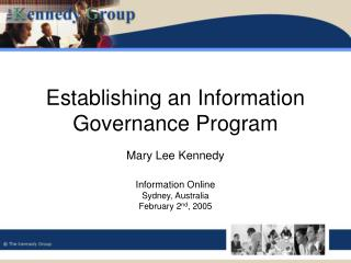 Establishing an Information Governance Program