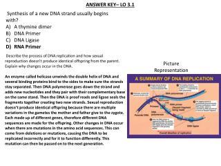 ANSWER KEY– LO 3.1