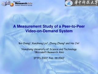 A Measurement Study of a Peer-to-Peer Video-on-Demand System