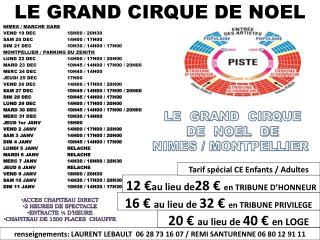 LE GRAND CIRQUE  DE NOEL