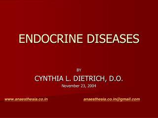 ENDOCRINE DISEASES