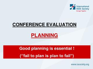 CONFERENCE EVALUATION PLANNING