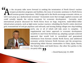 Economic Aid to the DPRK:  The Human Rights Dimension