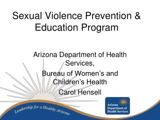 Sexual Violence Prevention & Education Program