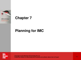 Chapter 7 Planning for IMC