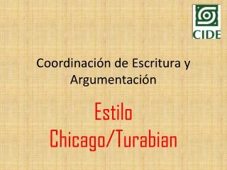 Coordinaci�n de Escritura y Argumentaci�n
