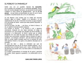 """EL PUEBLITO """"LA MARAVILLA"""""""