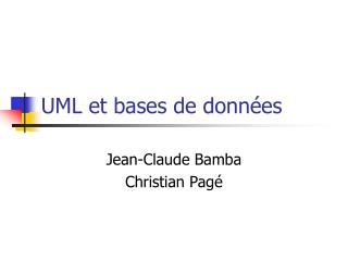 UML et bases de données