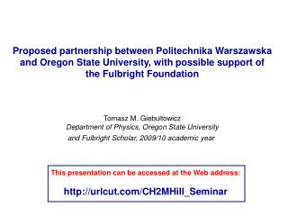 Proposed partnership between Politechnika Warszawska