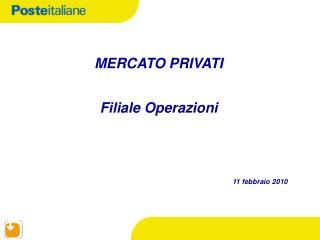 MERCATO PRIVATI Filiale Operazioni