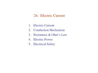 24.  Electric Current