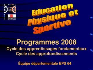 �quipe d�partementale EPS 64