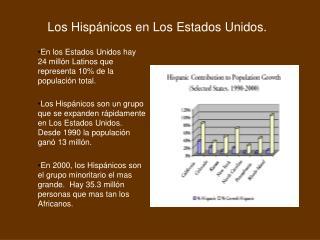 Los  Hispánicos  en Los Estados Unidos.