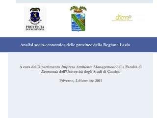 Analisi socio-economica delle province della Regione Lazio