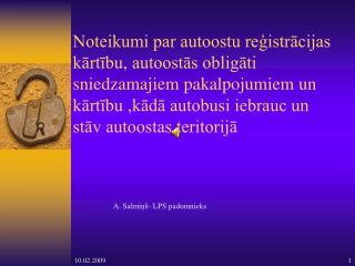 A. Salmiņš- LPS padomnieks