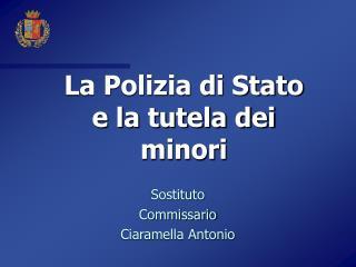 La Polizia di Stato  e la tutela dei minori