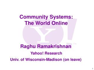Community Systems: The World Online