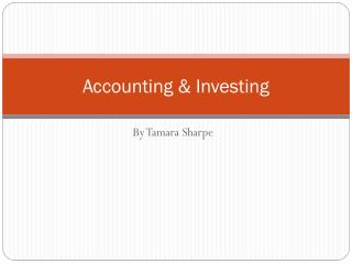 Accounting & Investing