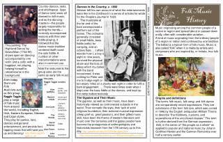 Folk Music History