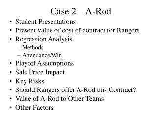 Case 2 – A-Rod