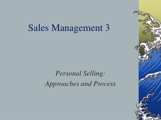 Sales Management 3