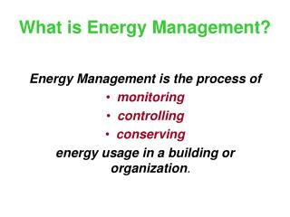 What is Energy Management?