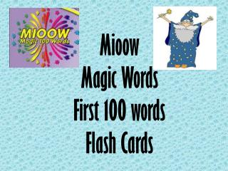 Mioow Magic Words First 100 words Flash Cards