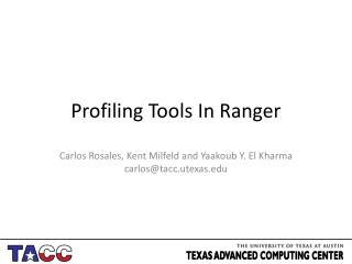 Profiling Tools In Ranger
