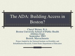 The ADA: Building Access in Boston?